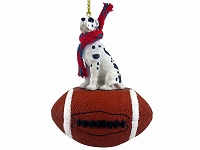 Great Dane Harlequin w/Uncropped Ears Football Ornament