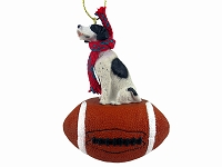 Pointer Black & White Football Ornament