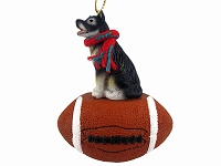 Alaskan Malamute Football Ornament