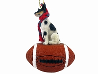 Rat Terrier Football Ornament