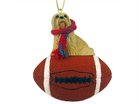 Lhasa Apso Blonde Football Ornament