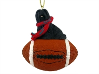 Lhasa Apso Black Football Ornament