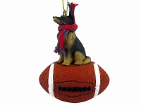 Belgian Tervuren Football Ornament