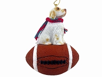 Clumber Spaniel Football Ornament