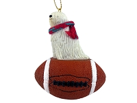Komondor Football Ornament