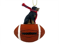 Rottweiler Football Ornament