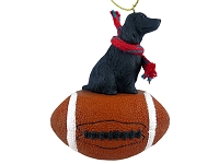 Cocker Spaniel English Black Football Ornament