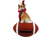 Chihuahua Longhaired Football Ornament