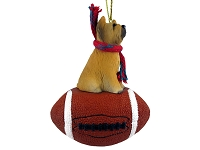 Briard Football Ornament