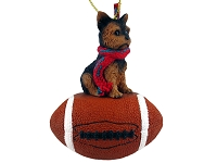Yorkshire Terrier Puppycut Football Ornament