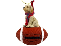 Labradoodle Cream Football Ornament