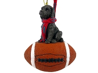 Labradoodle Chocolate Football Ornament