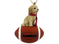 Dog Football Ornaments