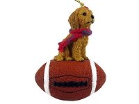 Goldendoodle Football Ornament