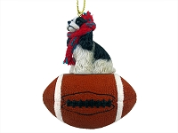 Cocker Spaniel Black & White Football Ornament