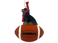 Cocker Spaniel Black & Tan Football Ornament