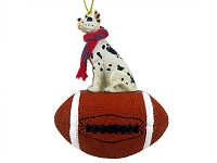 Great Dane Harlequin Football Ornament