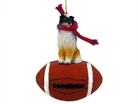 Sheltie Tricolor Football Ornament
