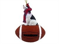 Springer Spaniel Liver & White Football Ornament