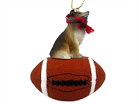 Collie Sable Football Ornament