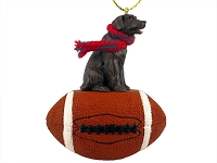 Labrador Retriever Chocolate Football Ornament