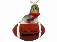Shih Tzu Mixed Football Ornament