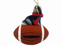Shih Tzu Black & White Football Ornament