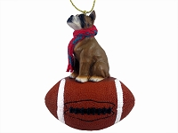 Boxer Football Ornament