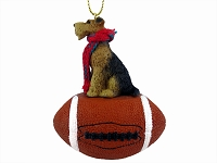 Airedale Football Ornament