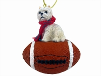 West Highland Terrier Football Ornament