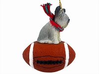 Skye Terrier Football Ornament
