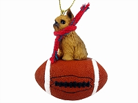 Brussels Griffon Red Football Ornament
