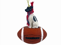Fox Terrier Black & White Football Ornament