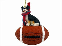Welsh Corgi Cardigan Football Ornament