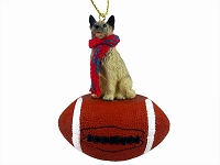 Norwegian Elkhound Football Ornament