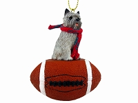 Cairn Terrier Gray Football Ornament