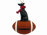 Greyhound Brindle Football Ornament