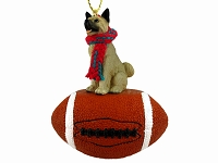 Akita Gray Football Ornament