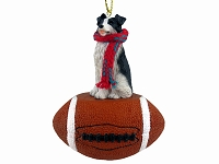 Border Collie Football Ornament