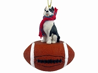 Pit Bull Terrier Brindle Football Ornament