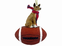 Basenji Football Ornament