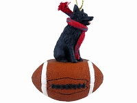Schipperke Football Ornament