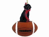 Portuguese Water Dog Football Ornament