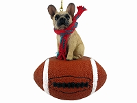 French Bulldog Fawn Football Ornament