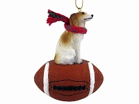 Borzoi Football Ornament