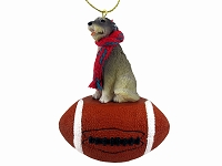 Irish Wolfhound Football Ornament