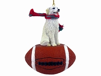 Kuvasz Football Ornament