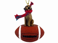 Rhodesian Ridgeback Football Ornament
