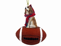 Cavalier King Charles Spaniel Brown & White Football Ornament