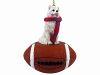 American Eskimo Football Ornament